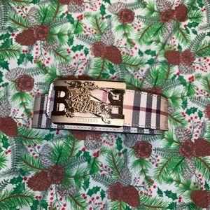 Men's reversible Burberry belt
